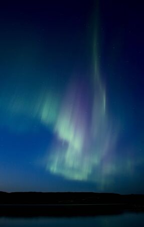 Night Shot Northern Lights Saskatchewan Canada photo