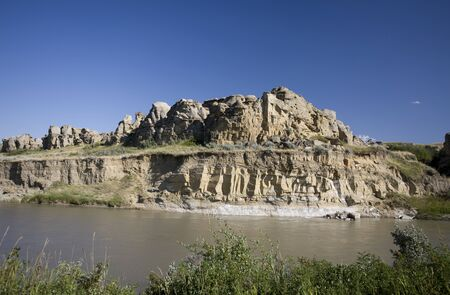 Milk River Alberta Badlands Alberta Southern Canada Stock Photo - 12919086