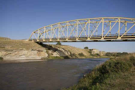 hoodoos: Milk River Alberta Badlands Alberta Southern Canada Stock Photo