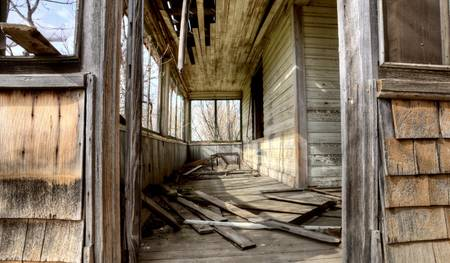 Interior abandoned house prairie Saskatchewan Canada Stock Photo - 13849370
