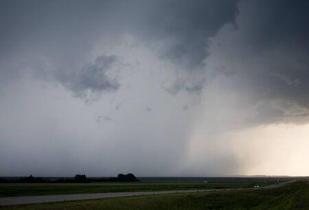 Storm Clouds Saskatchewan agriculture field prairie crop Stock Photo - 16225844