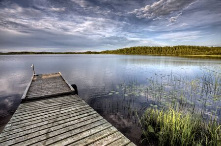 Northern Saskatchewan Lake wilderness in Canada calm