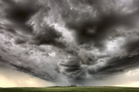 Storm Clouds Saskatchewan major hail and wind Stock Photo - 16226497