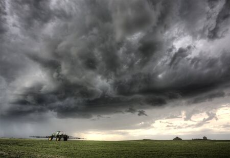 Storm Clouds Saskatchewan major hail and wind Stock Photo - 16226485