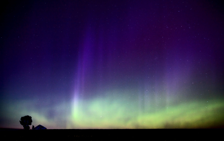 Northern Lights Aurora Borealis in Saskatchewan Canada