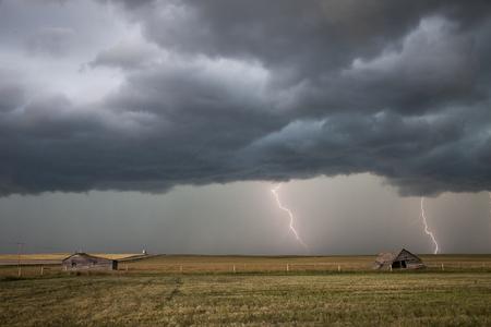 Prairie Storm Clouds ominous weather Saskatchewan\ Canada