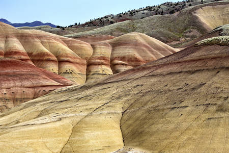 Painted Hills Oregon colorful view red and brown Stock Photo - 22976437