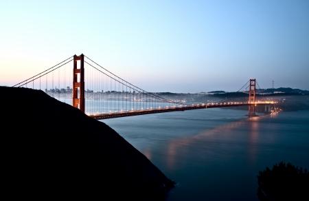 San Francisco Skyline tir de nuit de point de vue élevé