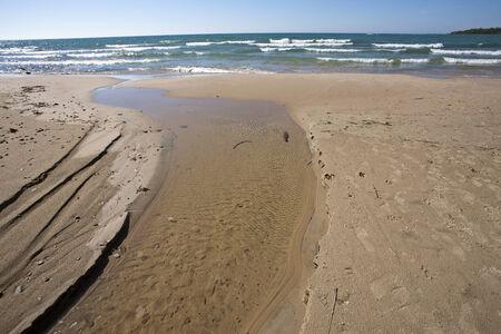huron: Shoreline Lake Huron Ontario Canada beach waves