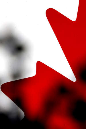 canadian flag: Abstract Canadian Flag close up maple leaf