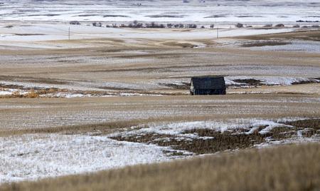Prairie Landscape in winter Saskatchewan Canada scenic