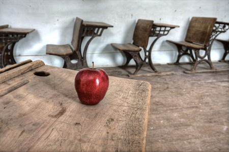 one room school house: Abandoned School House one room Canada Saskatchewan Stock Photo