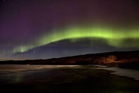aurora: Aurora Borealis Northern Lights Saskatchewan Lake