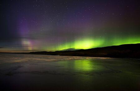 northern light: Aurora Borealis Northern Lights Saskatchewan Lake