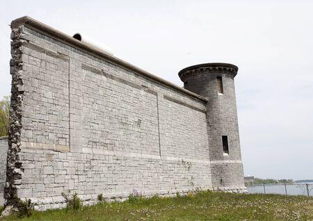 shorelines: Kingston Penitentiary Ontario Canada abandoned stone Stock Photo