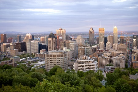 Panoramic Photo Montreal city fron Mount Royal