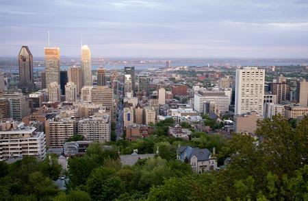 montreal city: Panoramic Photo Montreal city fron Mount Royal