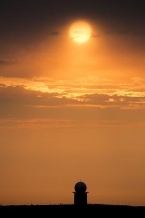 sillouette: Sunset Orange Sillouette and Doplar Radar Canada