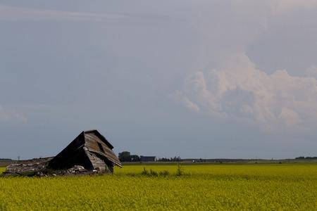 uğursuz: Storm Clouds Prairie Sky Canada Ominous danger Stok Fotoğraf