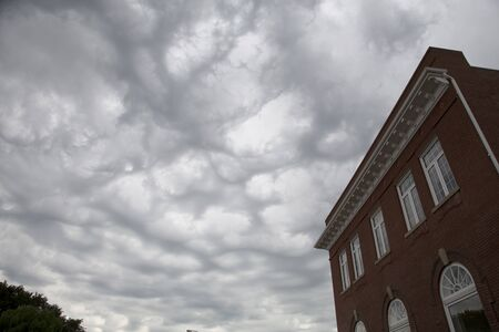 Storm Clouds and Building in Moose Jaw Canada