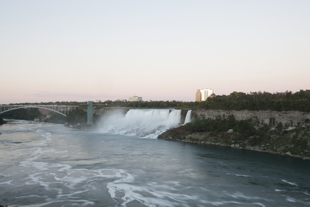 niagara falls: Niagara Falls in Ontario Canada cascading water Stock Photo