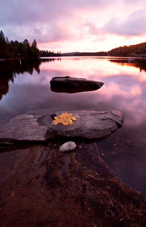 getaways: Algonquin Park Muskoka Ontario fall autumn colors Stock Photo