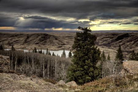 saskatchewan: Cypress Hills Alberta Saskatchewan in the hills Alberta Stock Photo