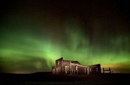 northern light: Northern Lights Canada rural Saskatchewan star trails