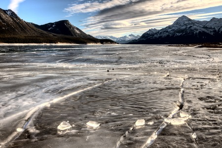 abraham: Abraham Lake Winter Ice formations bubbles design