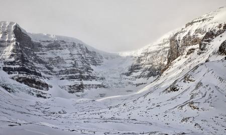 columbia: Columbia Icefields Alberta Rocky Mountains winter Canada Stock Photo