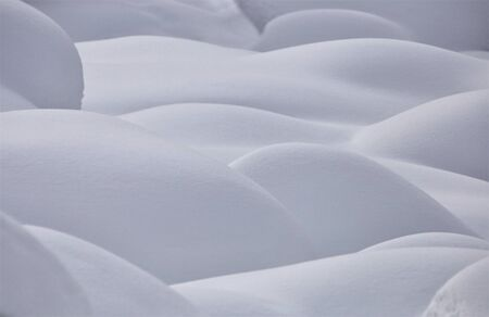 moguls: Mountain Snow Moguls Winter Alberta Canada cold Stock Photo