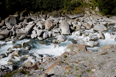 White Water New Zealand river South Island