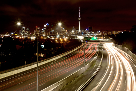 Auckland New Zealand City View Night Photography