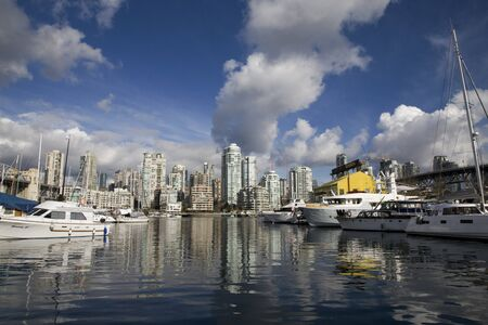 Vancouver Skyline Canada dwntown west end Granville Island