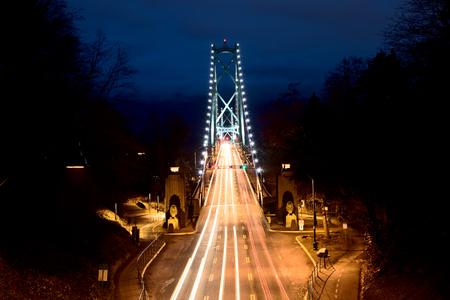 ライオンズ ゲート ブリッジ バンクーバー ブリティッシュコロンビア州カナダ 写真素材
