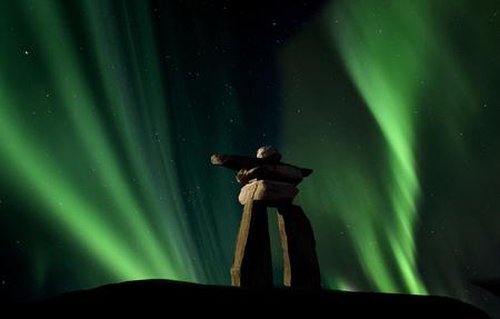 thunderhead: Inukshuk inukchuk Saskatchewan Northern Lights Aurora