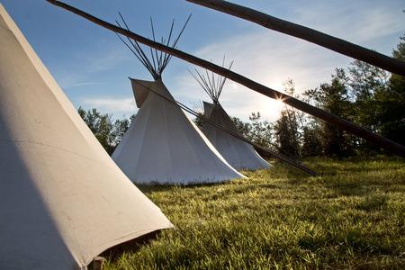 First Nation Teepee La Ronge Saskatchewan Canada