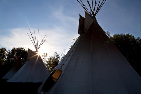 Primeira nação Teepee La Ronge Saskatchewan Canadá