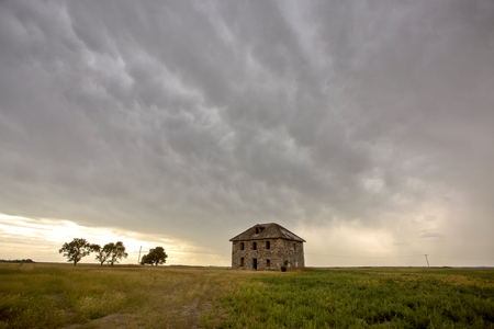 Prairie Storm Clouds Saskatchewan Canada Summer Danger 스톡 콘텐츠