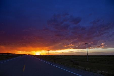 Prairie Storm Clouds Saskatchewan Canada Summer sunset