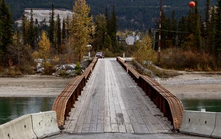 Golden British Columbia Kicking Horse narrow bridge