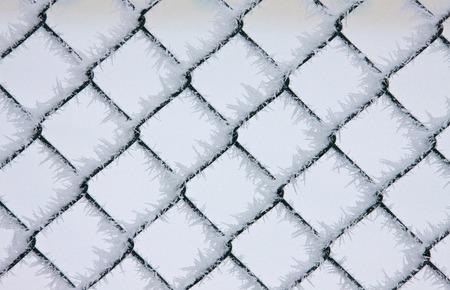Winter Frost Saskatchewan Canada ice storm fence