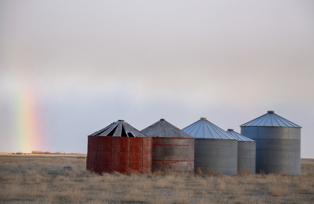 Prairie Storm Clouds in Saskatchewan Canada Rainbow