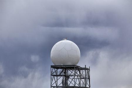 Prairie Storm Clouds in Saskatchewan Doppler Radar Stock Photo