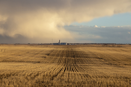 Prairie Storm Clouds rural Saskatchewan Canada Spring