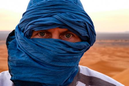 Berber man with blue eyes