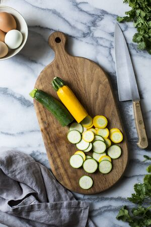 courgettes: Summer vegetables. Courgettes.