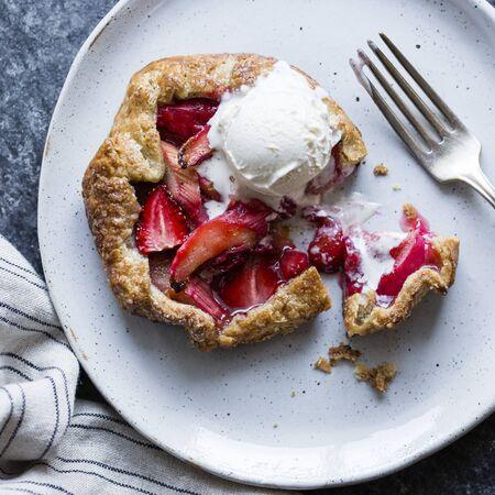 galettes: Strawberry Rhubarb Galettes