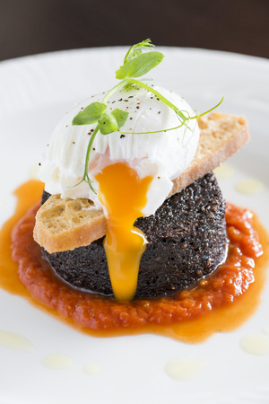Fried breakfast food from a fine dining restaurant LANG_EVOIMAGES