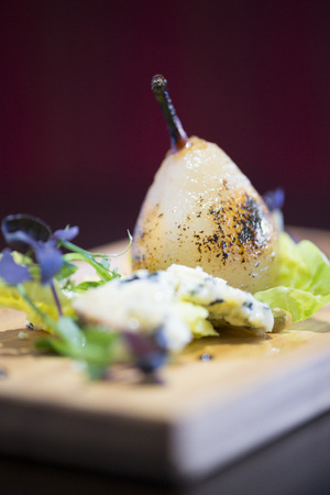 afters: Pear and blue cheese afters from a fine dining restaurant